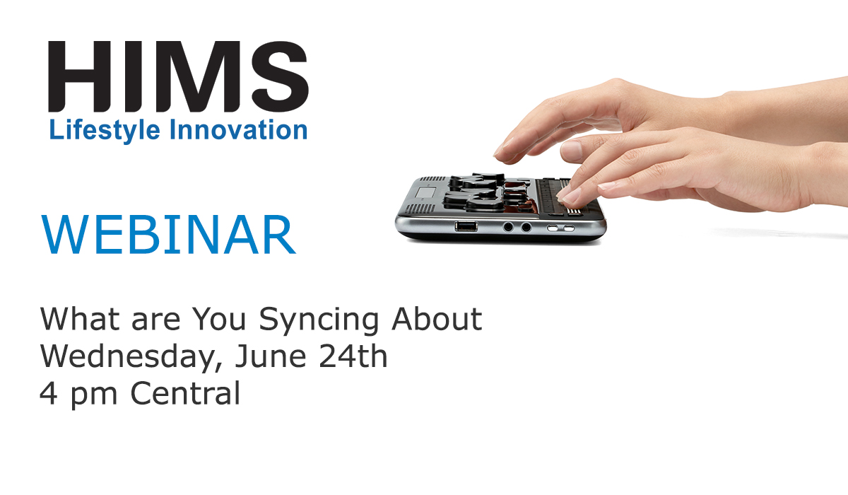 Webinar. What are you syncing about. Wednesday, June 24th. 4 pm Central.